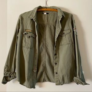 Urban Outfitters BDG cargo button up shirt